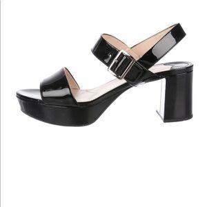 Prada platform patent leather sandals